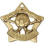Football Fun Star Medal 60mm AM732